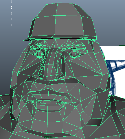 Low poly face..