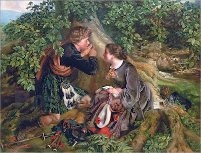 Daniel Maclise - Scottish Lovers,1863