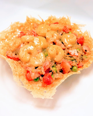 Shrimp Strawberry Risotto in a Parmesan Bowl recipe