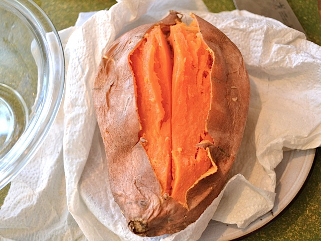 open sweet potato