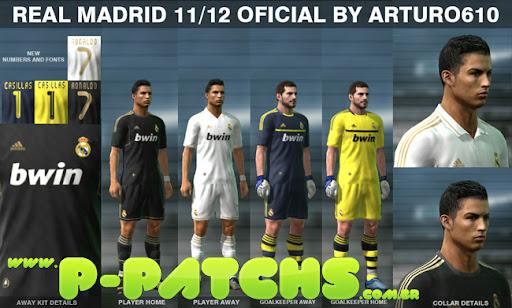 Real Madri 11-12 Kitset para PES 2011 PES 2011 download P-Patchs