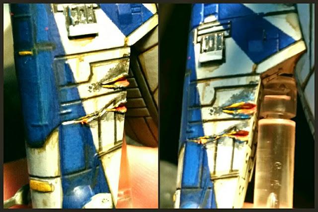 disparos en el FIRESPRAY-31 de la Escoria Scum pintado por Xela