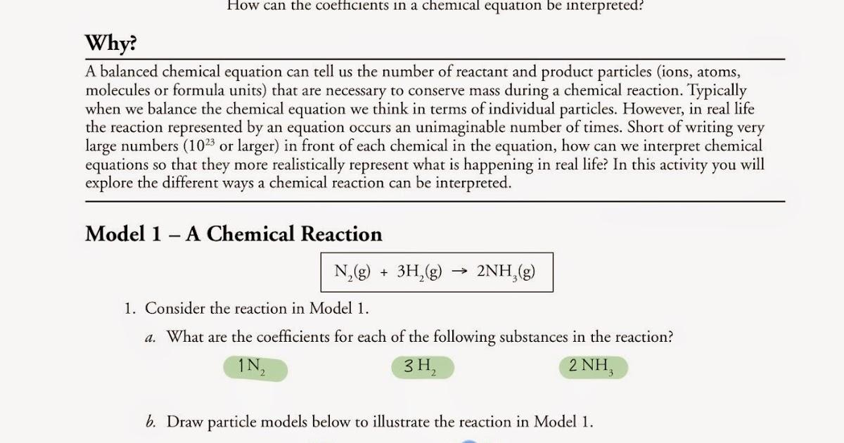 Tom Schoderbek Chemistry: Mole Ratios POGIL