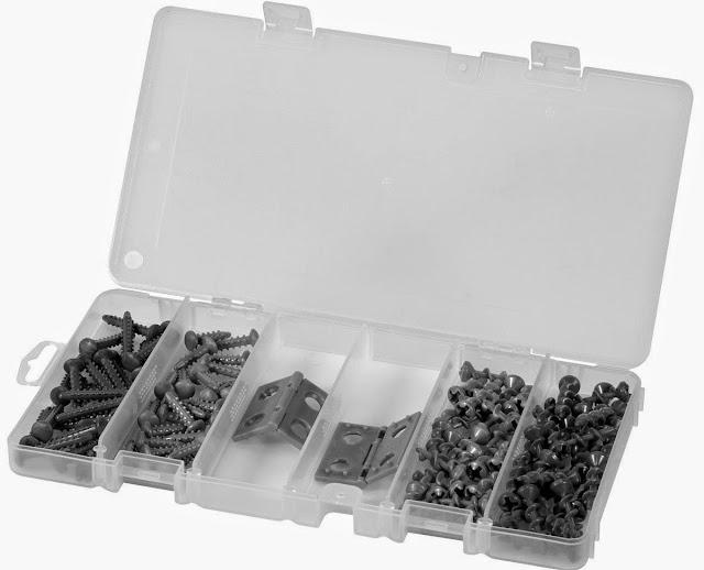 Bộ bản lề ốc vít đồ chơi thợ mộc bổ xung Nail, Screw and Hinge bao gồm hơn 100 chiếc