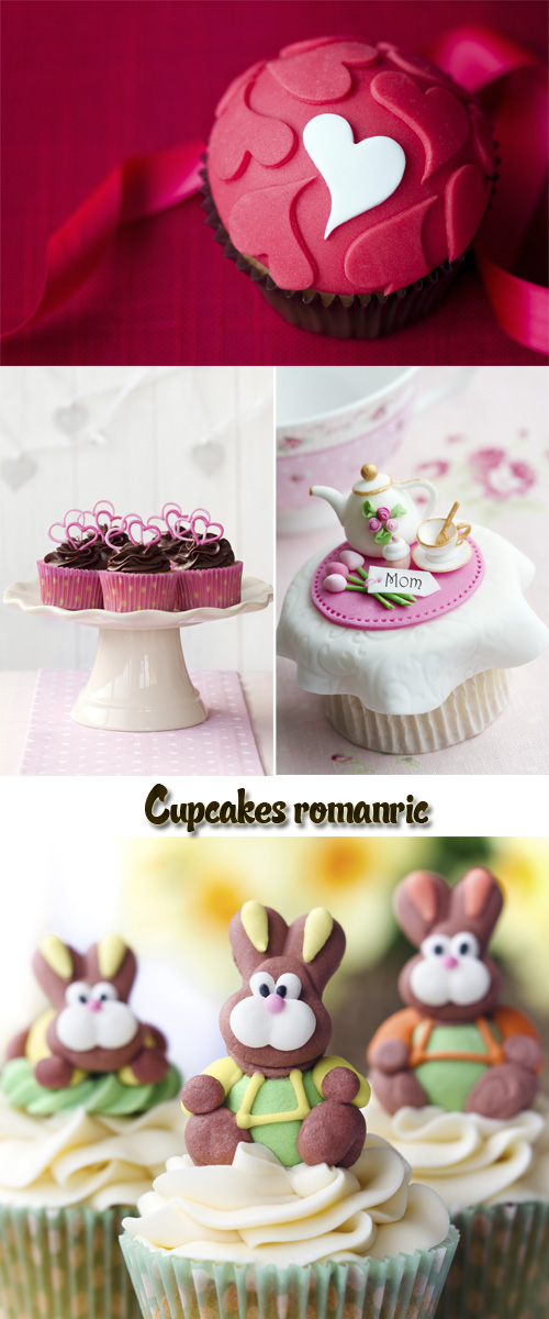 Stock Photo: Cupcakes romanric