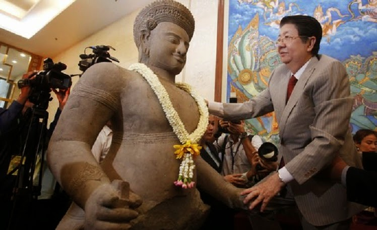 Ancient Hindu temple statues returned to Cambodia