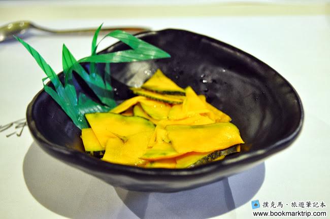 鰭味日式定食 - 先付百香果南瓜片