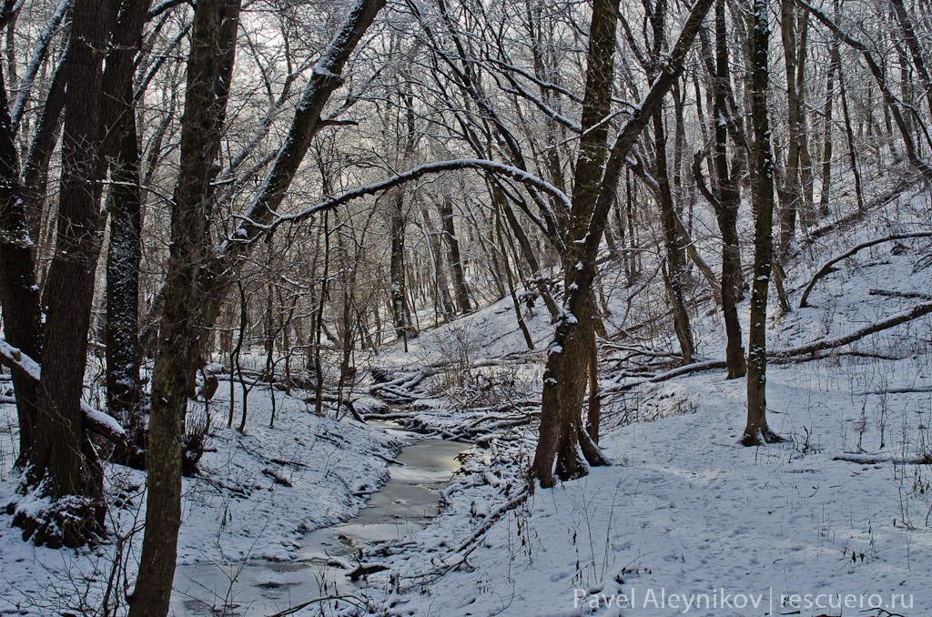 Балка на микрорайоне 2 зимой