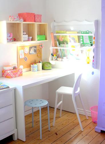 Barewunderbar%252520Hobby%252520Room Bright Pastel Craft Room   Home Office Space from Barewunderbar