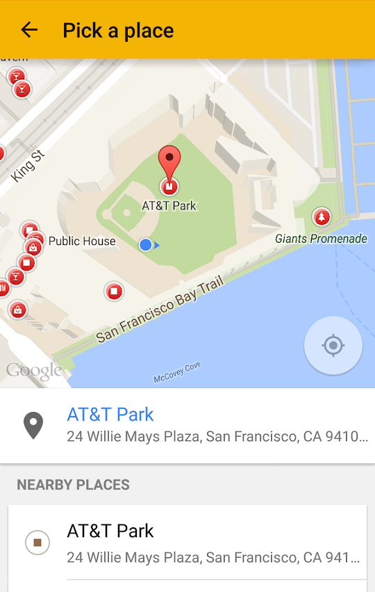 Google Location Picker