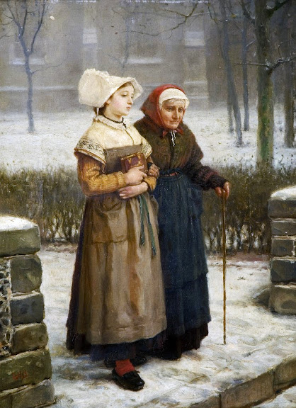 George Henry Boughton - Returning from Mass, Brittany