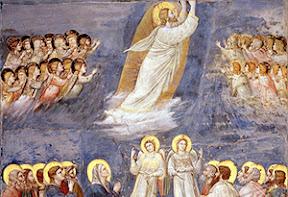 Giotto di Bondone (+1337), Ascensión de Cristo, santos y ángeles