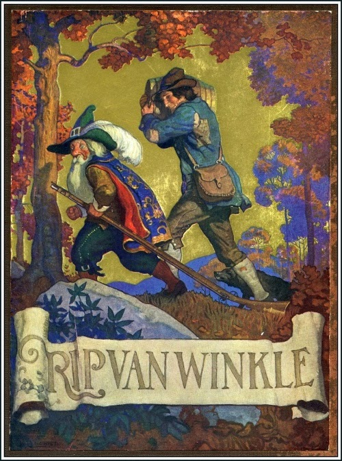 N. C. Wyeth - Rip Van Winkle, cover illustration