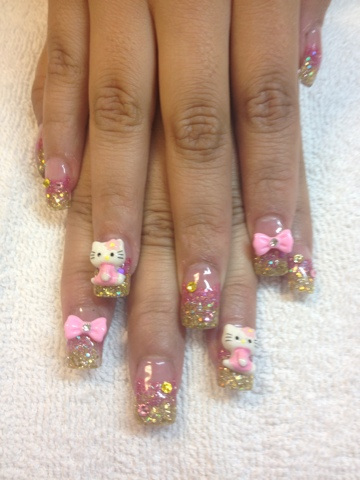 Nail art las vegas august 2012 i once asked a lady who had a hello kitty purse why she liked jello kitty she looked at the purse for like 10 seconds and saids just cute prinsesfo Images