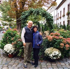 Joy & Mike after a nice lunch in Regensburg