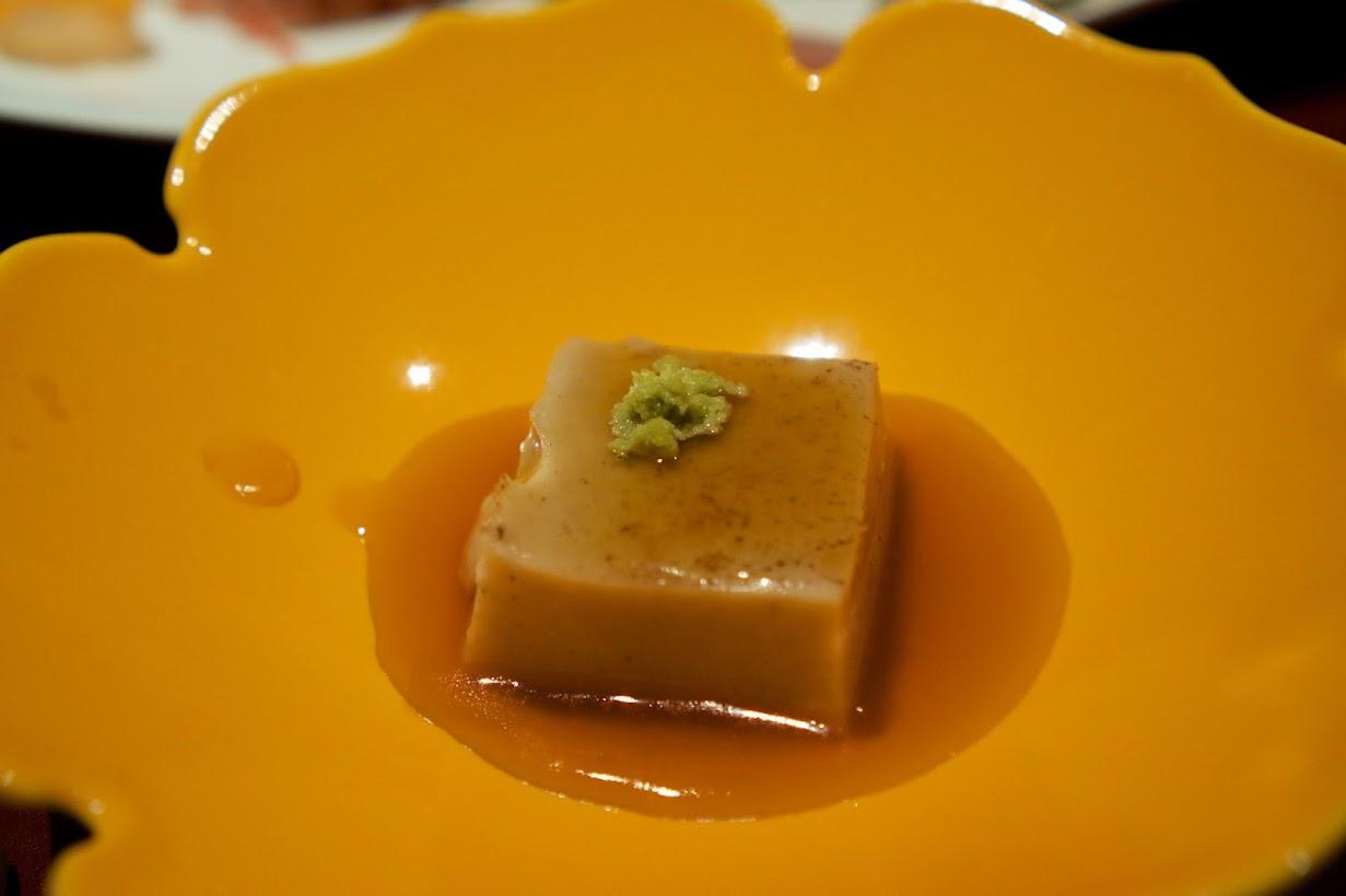 温物:炙り胡麻豆腐 天わさび