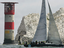 The Needles tower- round island race