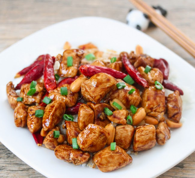 photo of a plate of Kung Pao Chicken