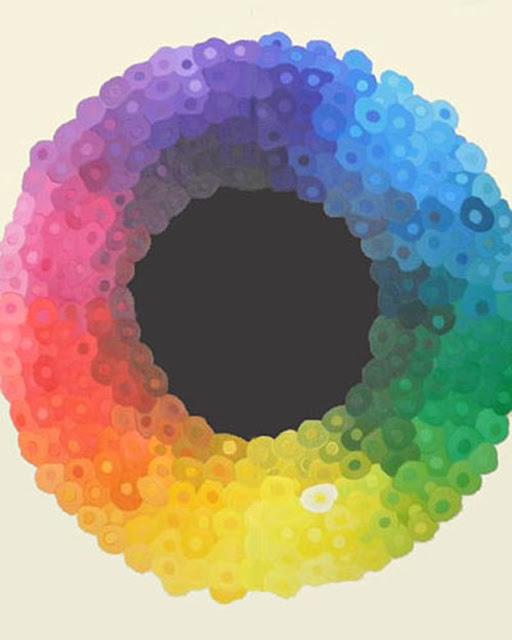 pintura gran circulo armonias de Lola Tajahuerce