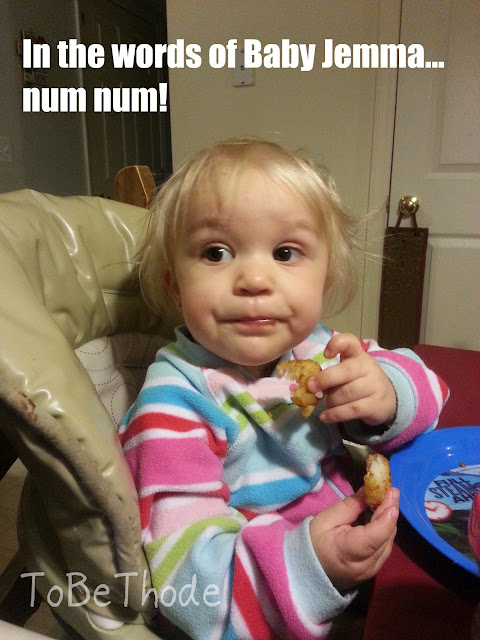 Jemma eat nugget