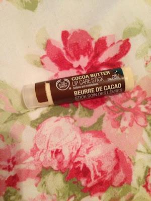 Body Shop cocoa butter lip care stick