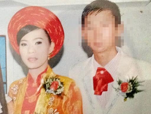 Tú Anh trong ngày cưới.