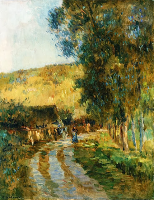 Albert Lebourg - Road in the Vallee de L'Iton