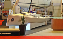 J/70 one-design sailboat- Paris Boatshow- Paris, France-