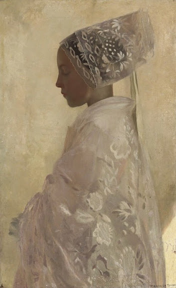 Gaston La Touche - A maiden in contemplation