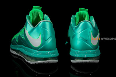 nike lebron 10 low ss green white 2 09 A Detailed Look at Nike LeBron X Teal Green (579765 300)