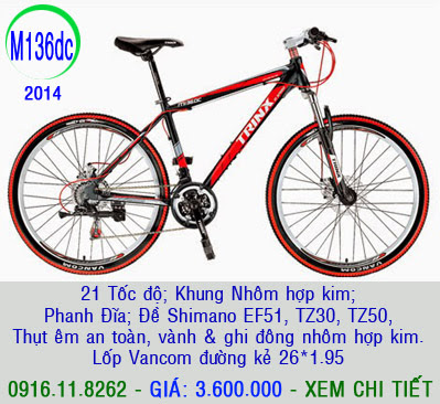 XE ĐẠP THỂ THAO, xe dap the thao, xe dap trinx, xe đạp thể thao chính hãng, xe dap asama,  M136dc 2014