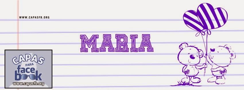 Capas para Facebook Maria