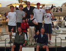 J/124 Marisol sailing crew members