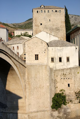 Old Bridge and surrounding buildings in Mostar Bosnia