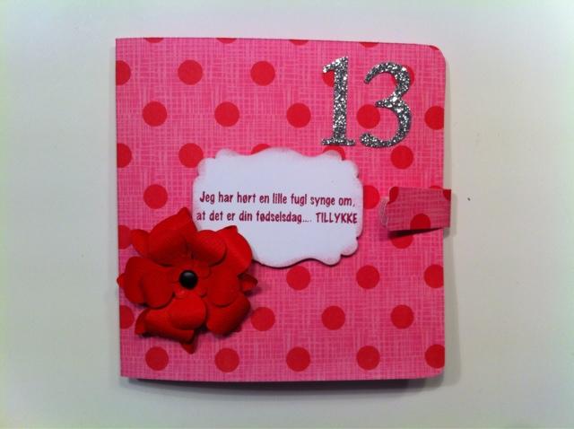 13 års fest Scrapbooking   i det små: Penge kort til 13 års fødselsdag 13 års fest