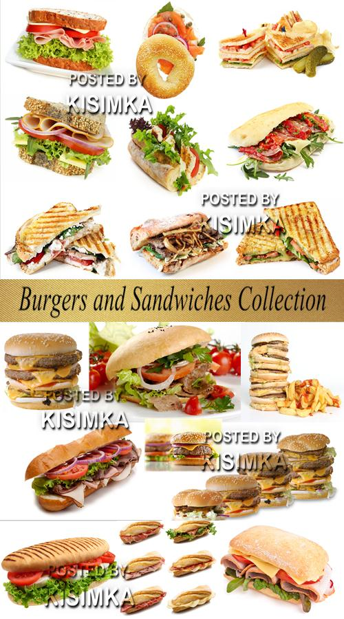Stock Photo: Burgers and Sandwiches Collection