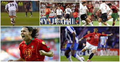 Cinco golos portugueses na lista da UEFA dos melhores golos dos últimos 60 anos