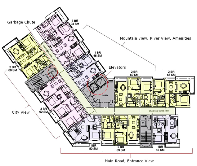 Floor Plan of Seville Residences at Circulo Verde, Condominium in Pasig