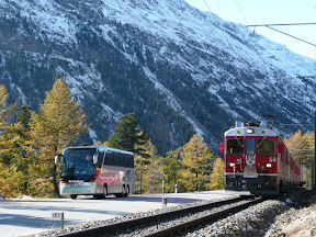 Glacier Express, Bernina Express, Rundreise, Heideker Reisen, Pontresina, Zermatt, Gornergrat, Matterhorn, Tiefencastel, Chur, Mistail, St. Moritz, Tirano, Addatal, Chiavenna, Malojapss, Silser See, Furka, Bersteigerdorf, Kleines Matterhorn, Gomtal, Grimselpass, Aareschlucht, Brünigpass