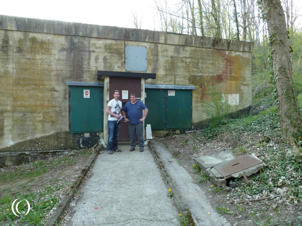 Pascal and Thierry in front of the ASW2 Association bunker
