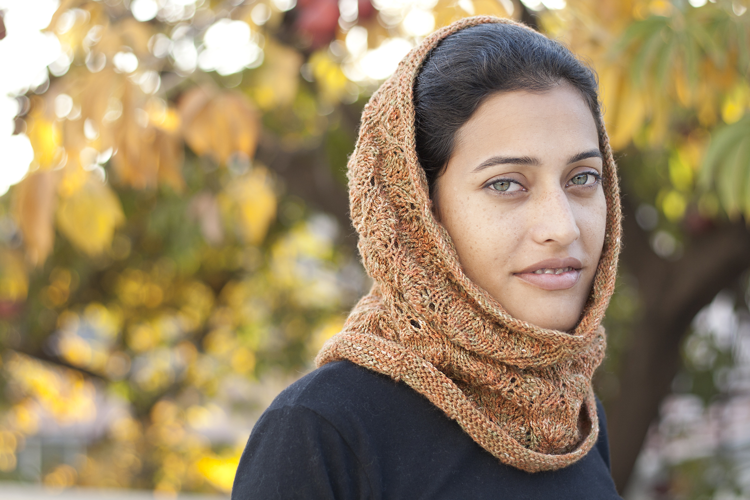 Knitting Pattern Head Scarf : YARNAHOY: Head bands, scarf and wimple knit for me.