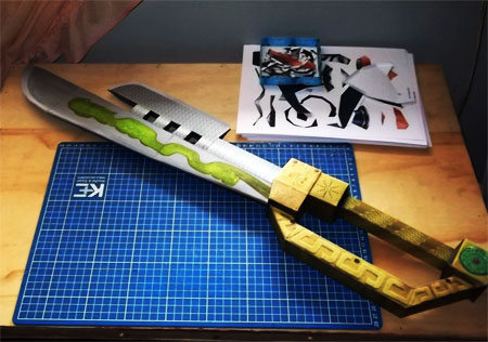 Kung Fu Panda Sword of Heroes Papercraft