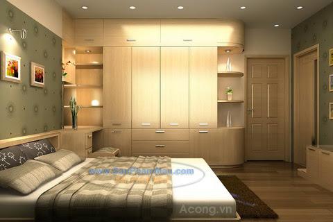 Tủ tường cho phòng ngủ
