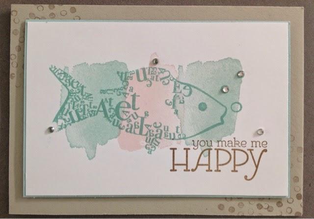 Stempel Fisch Karte