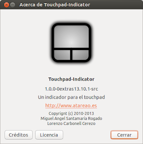 Touchpad-Indicator 1.0.0 en Saucy Salamander