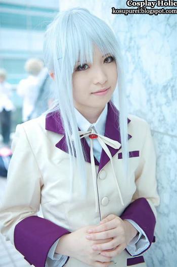 angel beats! cosplay - tachibana kanade / angel / tenshi