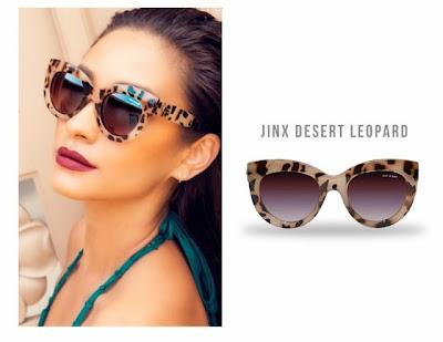 Quay x Shay Mitchell Jinx Desert Leopard Wintage Retro Sunglasses