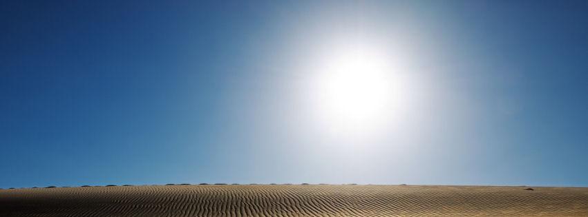 Sunny desert facebook cover