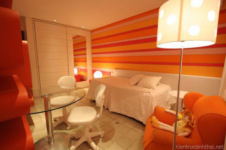 Thiết kế nội thất lấy cảm hứng từ màu cam
