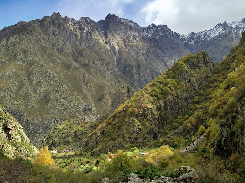 The mountains surrounding Georgian Military Highway